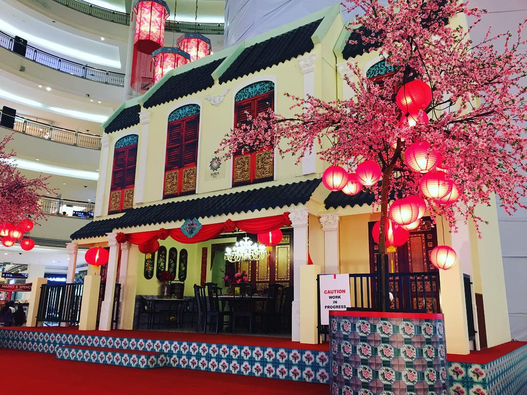 Shopping malls in kl celebrate chinese new year with bright and charming decoration klnow - Magnificent new year office decoration ...