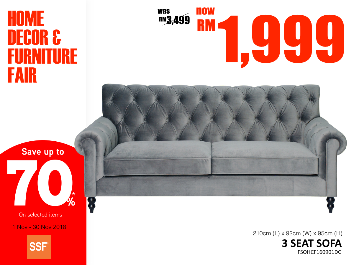 Its Time To Replace The Old Furniture With New Home Decors From Now Until November 30th SSF Is Launching Biggest And Decor